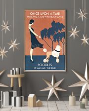 Vintage Girl Once Upon A Time Poodle 11x17 Poster lifestyle-holiday-poster-1