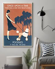 Vintage Girl Once Upon A Time Poodle 11x17 Poster lifestyle-poster-1
