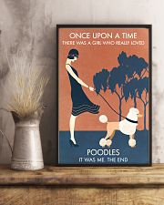 Vintage Girl Once Upon A Time Poodle 11x17 Poster lifestyle-poster-3