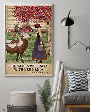 Catchphrase Works Willingly Hand Cattle Farm Girl 11x17 Poster lifestyle-poster-1