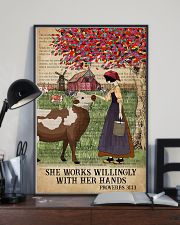 Catchphrase Works Willingly Hand Cattle Farm Girl 11x17 Poster lifestyle-poster-2