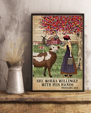 Catchphrase Works Willingly Hand Cattle Farm Girl 11x17 Poster lifestyle-poster-3