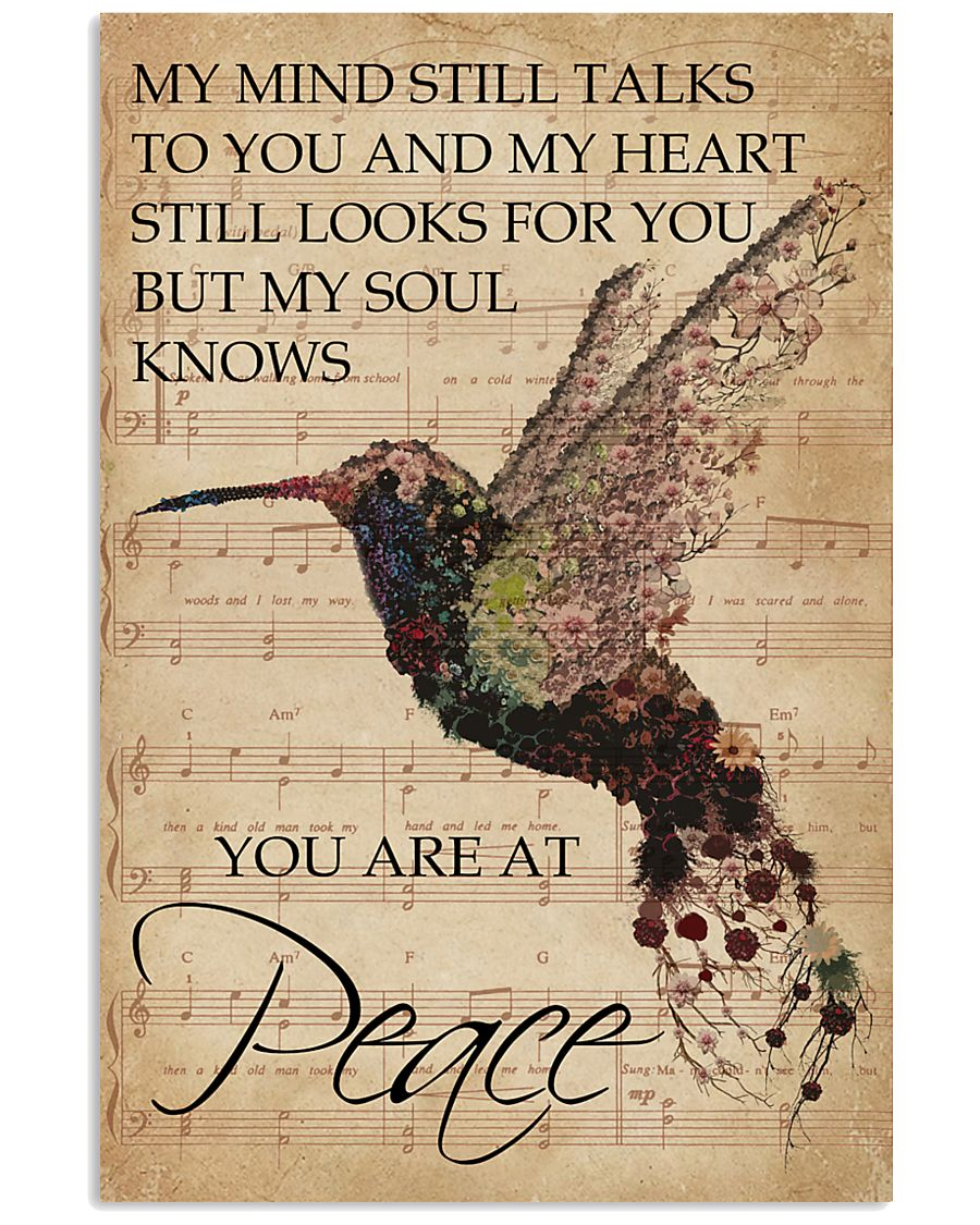 Music Sheet My Mind Still Talks Hummingbird 16x24 Poster