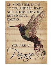 Music Sheet My Mind Still Talks Hummingbird 16x24 Poster front