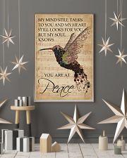 Music Sheet My Mind Still Talks Hummingbird 16x24 Poster lifestyle-holiday-poster-1