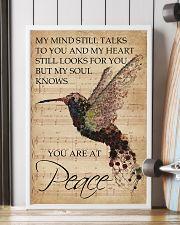 Music Sheet My Mind Still Talks Hummingbird 16x24 Poster lifestyle-poster-4