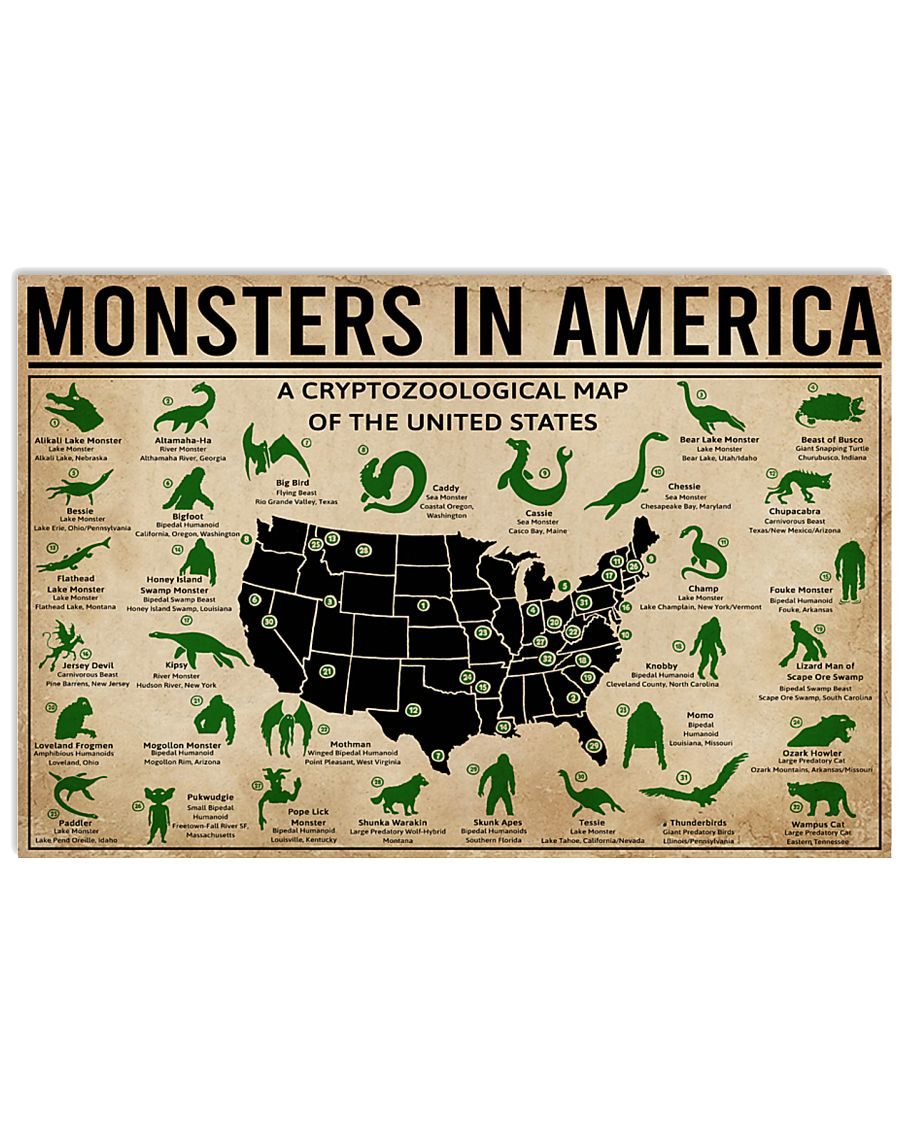 Monsters In America Bigfoot  17x11 Poster