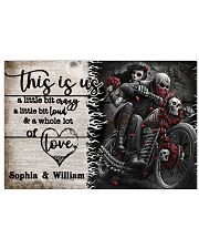 Personalize Motorcycling Skeleton A Little Bit Of  24x16 Poster front