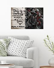 Personalize Motorcycling Skeleton A Little Bit Of  24x16 Poster poster-landscape-24x16-lifestyle-01