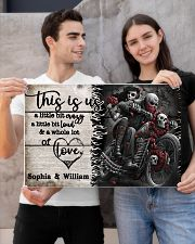 Personalize Motorcycling Skeleton A Little Bit Of  24x16 Poster poster-landscape-24x16-lifestyle-21