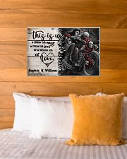 Personalize Motorcycling Skeleton A Little Bit Of  24x16 Poster poster-landscape-24x16-lifestyle-27