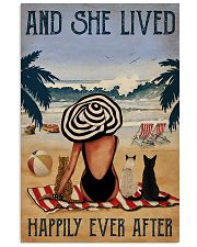 Vintage Beach Lived Happily Cats Girl 11x17 Poster front
