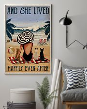 Vintage Beach Lived Happily Cats Girl 11x17 Poster lifestyle-poster-1
