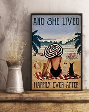 Vintage Beach Lived Happily Cats Girl 11x17 Poster lifestyle-poster-3