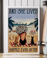 Vintage Beach Lived Happily Cats Girl 11x17 Poster lifestyle-poster-4