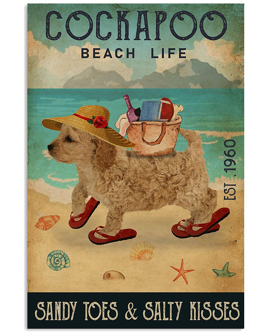 Beach Life Sandy Toes Cockapoo 11x17 Poster