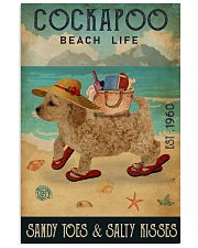 Beach Life Sandy Toes Cockapoo 11x17 Poster front