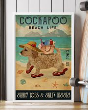 Beach Life Sandy Toes Cockapoo 11x17 Poster lifestyle-poster-4