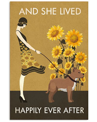 Sunflower Vintage Happy American Pit Bull Terrier