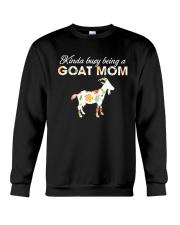 Kinda Busy Being A Goat Mom Crewneck Sweatshirt thumbnail