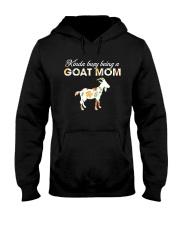 Kinda Busy Being A Goat Mom Hooded Sweatshirt thumbnail