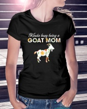 Kinda Busy Being A Goat Mom Ladies T-Shirt lifestyle-women-crewneck-front-7