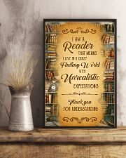 Books I Am A Reader 11x17 Poster lifestyle-poster-3
