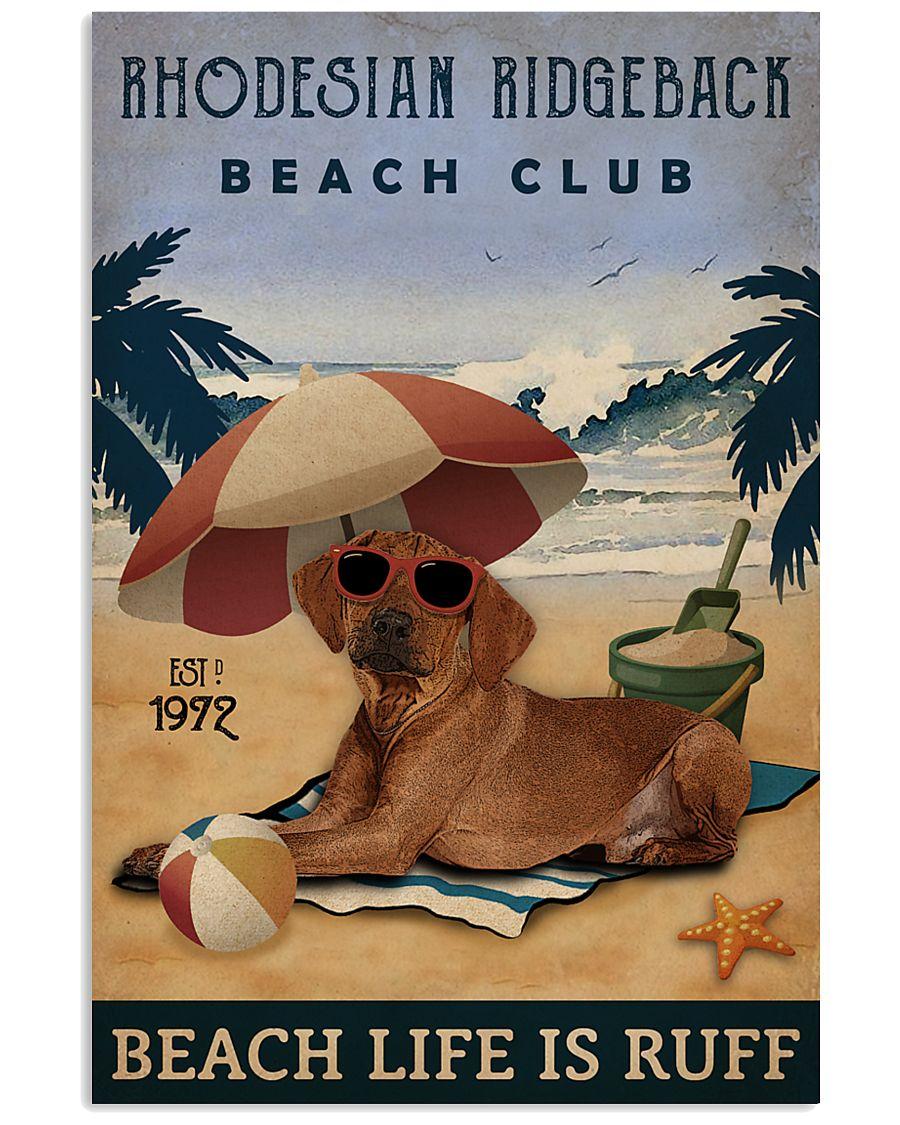 Vintage Beach Club Is Ruff Rhodesian Ridgeback 11x17 Poster
