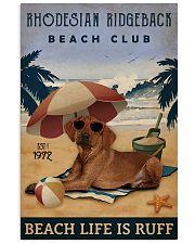 Vintage Beach Club Is Ruff Rhodesian Ridgeback 11x17 Poster front