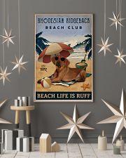 Vintage Beach Club Is Ruff Rhodesian Ridgeback 11x17 Poster lifestyle-holiday-poster-1