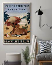 Vintage Beach Club Is Ruff Rhodesian Ridgeback 11x17 Poster lifestyle-poster-1