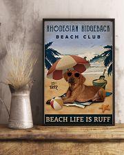 Vintage Beach Club Is Ruff Rhodesian Ridgeback 11x17 Poster lifestyle-poster-3