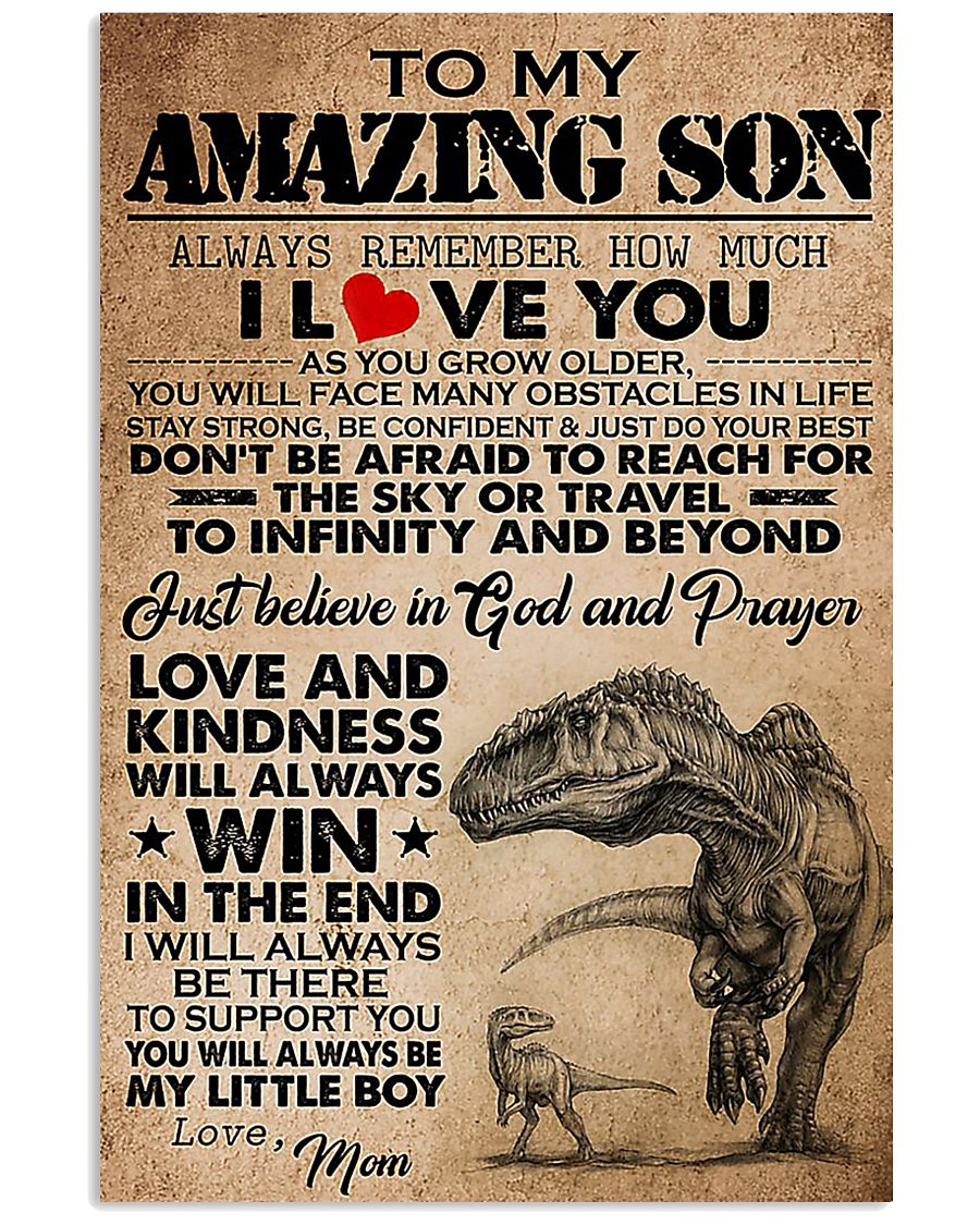 Dinosaur To My Amazing Son I Love You 11x17 Poster
