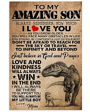 Dinosaur To My Amazing Son I Love You 11x17 Poster front
