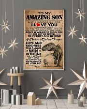 Dinosaur To My Amazing Son I Love You 11x17 Poster lifestyle-holiday-poster-1