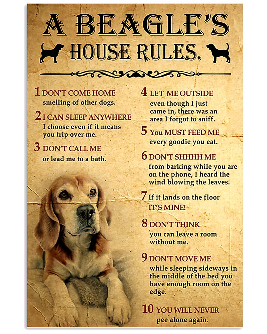 A Beagle's House Rules 11x17 Poster