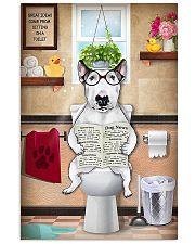 Bull Terrier Reading Dog News 11x17 Poster front