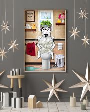 Bull Terrier Reading Dog News 11x17 Poster lifestyle-holiday-poster-1