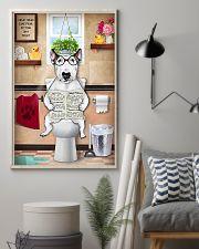 Bull Terrier Reading Dog News 11x17 Poster lifestyle-poster-1