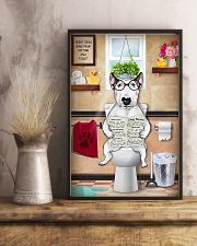 Bull Terrier Reading Dog News 11x17 Poster lifestyle-poster-3