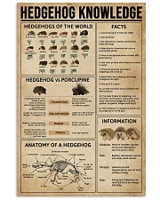 Hedgehog Knowledge 11x17 Poster front