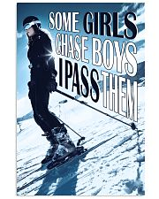 Skiing Some Girls Chase Boys 16x24 Poster front