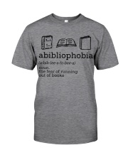 Abibliophobia Reading - On Sale Classic T-Shirt front