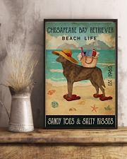 Beach Life Sandy Toes Chesapeake Bay Retriever 11x17 Poster lifestyle-poster-3