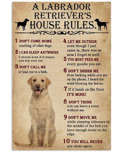 A Labrador Retriever House Rules
