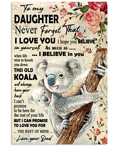 Koala Dad To Daughter Never Forget
