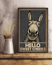 Gray Hello Sweet Cheeks Donkey 16x24 Poster lifestyle-poster-3