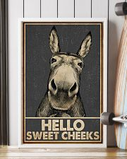 Gray Hello Sweet Cheeks Donkey 16x24 Poster lifestyle-poster-4