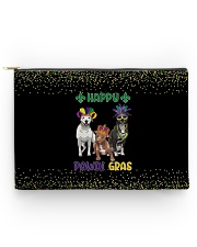 Happy Pawdi Gras Pit Bull Accessory Pouch - Large thumbnail