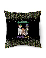 "Happy Pawdi Gras Pit Bull Indoor Pillow - 16"" x 16"" thumbnail"